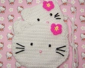 Kitty Poncho, Scarf, Purse and Wallet Set