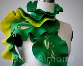 SALE.Felted scarf.
