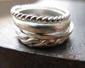 Organic Stacker Rings