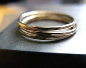 Three 14k Gold Fill Thinny Stacker Rings