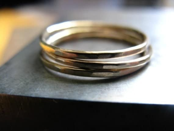 Three 14k Gold Fill Thinny Stacker Rings
