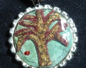 Tree of Life-- Bottlecap Pendant