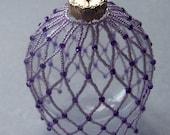 Lavender Beaded Ornament