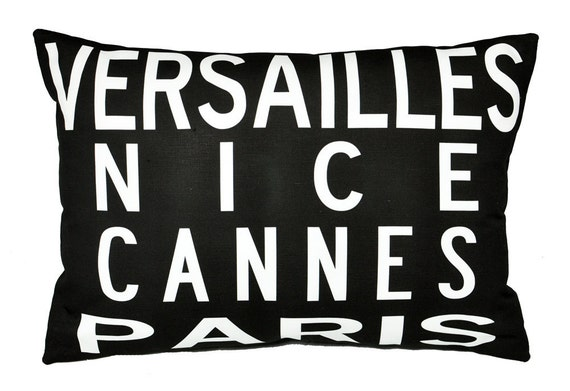 Cities of France- Eco-friendly Pillow, Ready to Ship-14x20 size
