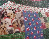 CHRISTMAS QUILT  THROW 56 X 72