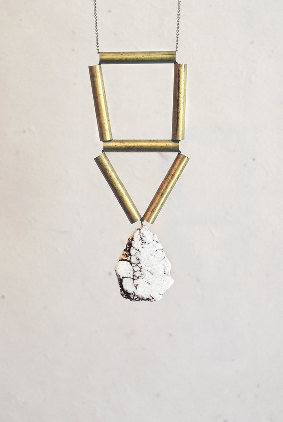 Magnesite Geometric Necklace