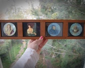 Huge Magic Lantern Slide Quartet of Original Feminists