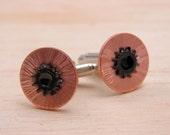 Mens Cuff Links Steampunk Jewelry Hardware Jewelry Industrial Copper Hardware