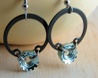 Dangle Earrings Hoops Steampunk Hardware Jewelry Drop Earrings