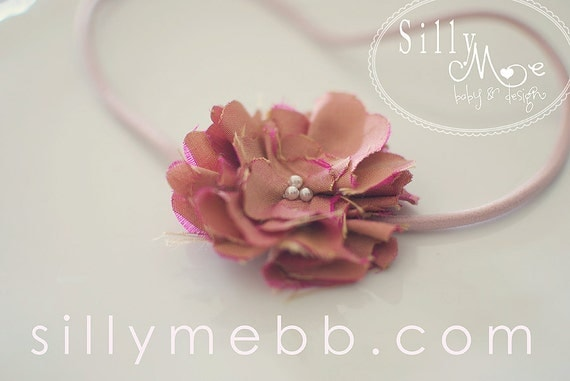 Vintage inspired Bitty Bud Flapper headband- photo prop, newborn, blessing, wedding, photography
