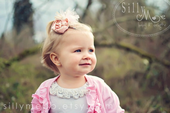 Pink Pretty- Vintage inspired Clip or Headband