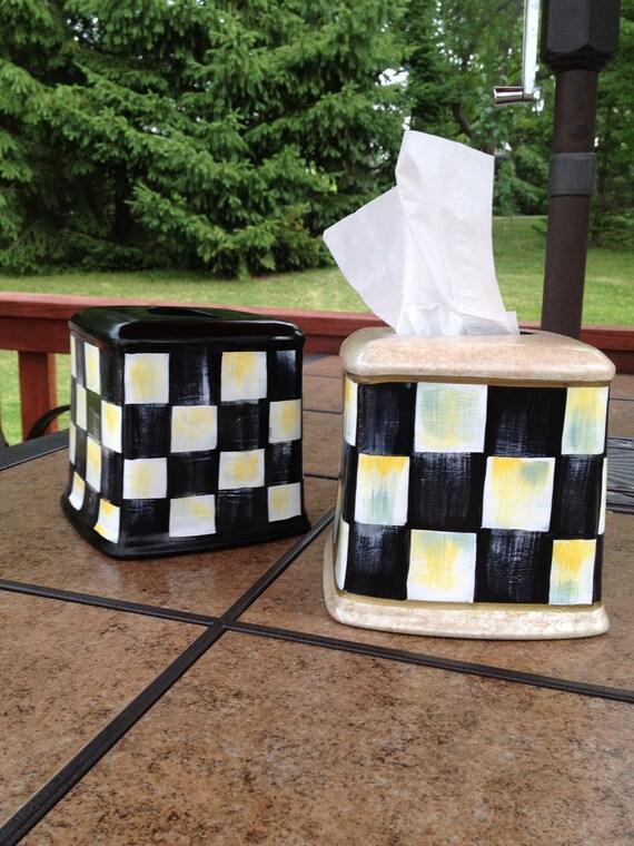 Hand Painted Ceramic Tissue Box