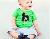 GRASS short sleeve SUPER CUTE personalized t shirt.  letter or number.  short sleeve only.