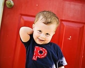 TWO SHORT SLEEVE super cute t shirt.  you choose tee color, letter or number, felt and yarn.  american apparel.