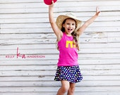 Girl Boy TANK top.  1st 2nd 3rd Birthday or Letter shirt.   a b c d e f g h i j k l m n o p q r s t u v.  1 2 3 4 5 6 7 8 9 10