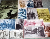 Early American Woodcut prints from vintage magazines 14 pieces