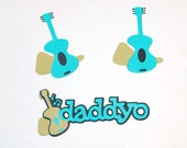 Retro Daddyo and Guitars Die Cut Set