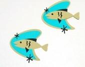 Retro Fish Die Cuts