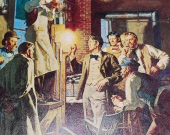 Thomas Edison Vintage Ephemera 3 pieces