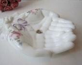 Vintage Westmoreland Milk Glass Roses & Bowls Hand Dish