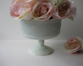 EO Brody Milk Glass Compote - Vintage Chic