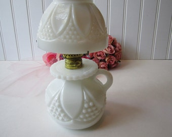 Sale Vintage Imperial Milk Glass Tulip and Cane Bundling  Lamp