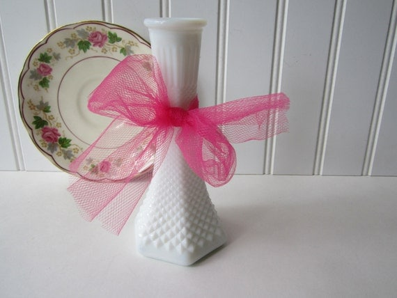 Vintage EO Brody English Hobnail Bud Vase