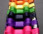 Rainbow Set of 7 Infant Non-slip Clips for Fine Hair