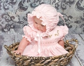 Hand smocked Daydress w/ Panties and Bonnet