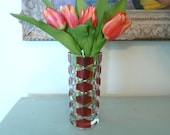 Faceted Glass Vase made in France
