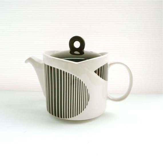 Sadler Teapot In Black And White England