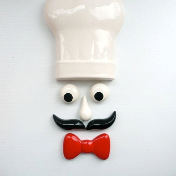 Ceramic Wall Decor of Chef made in Japan