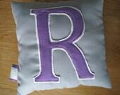 Monogram Pillow - Felt Letter - R