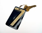 Lucky Number Seven Key Chain -  Recycled License Plates