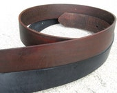 RESERVED for Middlebay - 2 Genuine Leather Snap Belt - Black or Distressed Brown - 5 dollars off with buckle purchase