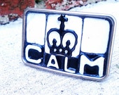 Keep Calm Belt Buckle - Recycled License Plates