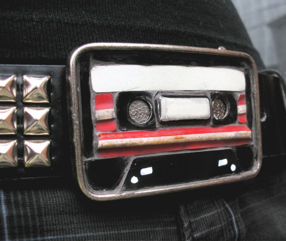 Cassette Tape Belt Buckle - Recycled License Plates - CUSTOMIZE ME