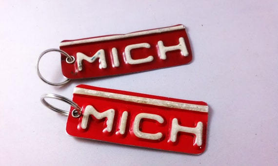 Michigan Key Chain - Recycled License Plates