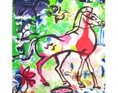 Reserved for aricat3000 Park Mates,( Central Park Day) - Original Fine Art Painting - 8 x10 inches