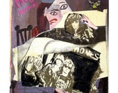 Paco Ramona - Original Fine Art  Collage  - SALE - 11 x 14 inches