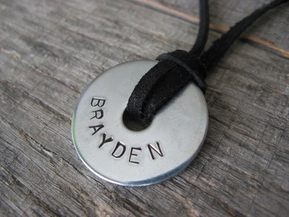 Boys Stamped Necklace