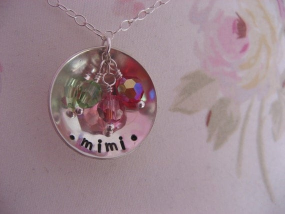 Grandmothers Domed Stamped Necklace