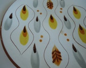 Vintage Stangl Pottery Amber Glo Plate