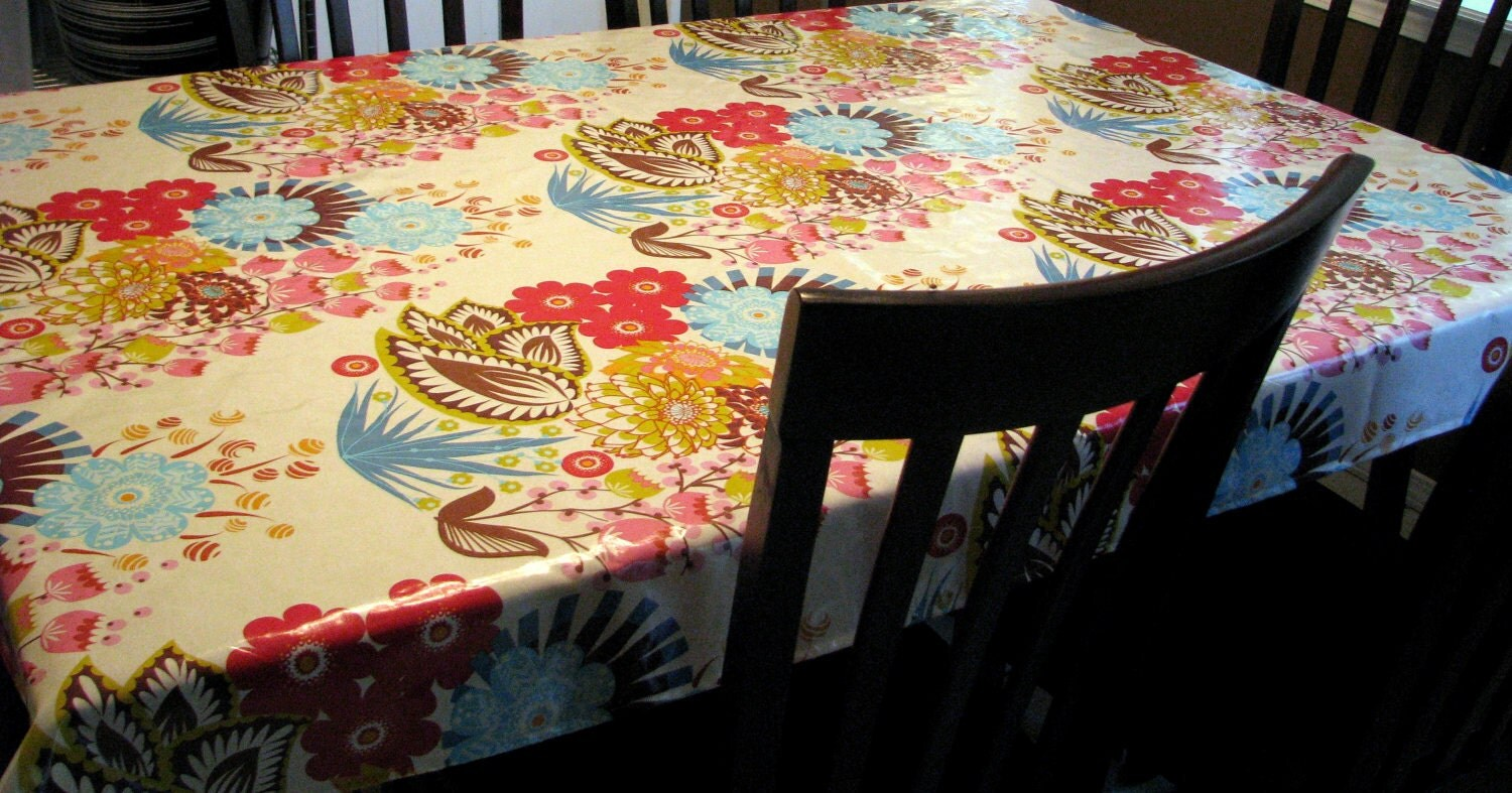 Custom laminated tablecloth 54 x 80 by modern by modernmyrtle for Custom laminations