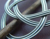 Silver Ribbon Guitar String Barrette Medium