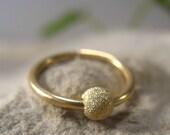 Gauged Hoop Earring Gold Endless SINGLE - 16 Gauge Earring, 14 Gauge, Earrings, Mens Earring, Septum Ring, Endless Earring, Conch Earring