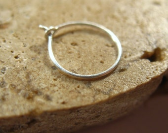 Thin Silver Nose Ring - Super Thin Nose Ring, Thin Nose Ring, Silver Nose Ring, 24 Gauge Nose Ring, 26 Gauge Nose Ring, Minimal Nose Ring
