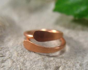Hoop Earrings Flat Copper Copper Earrings/Mens Earrings/Active Hoops/Sleeper Hoops/Rustic Hoops/Small Hoop Earrings//Flat Hoops