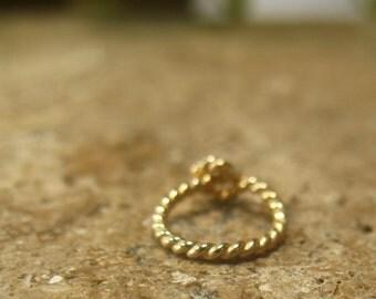 Hoop Earrings Gold Dotted Twist SINGLE Cartilage Hoop/Daith Hoop/Rook Hoop/Snug Hoop/Helix Hoop/Tragus Hoop/Orbital Hoop/20 Gauge/18 Gauge