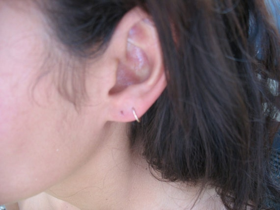 Cartilage hoop earrings 14k gold filled by mysticmoons on etsy